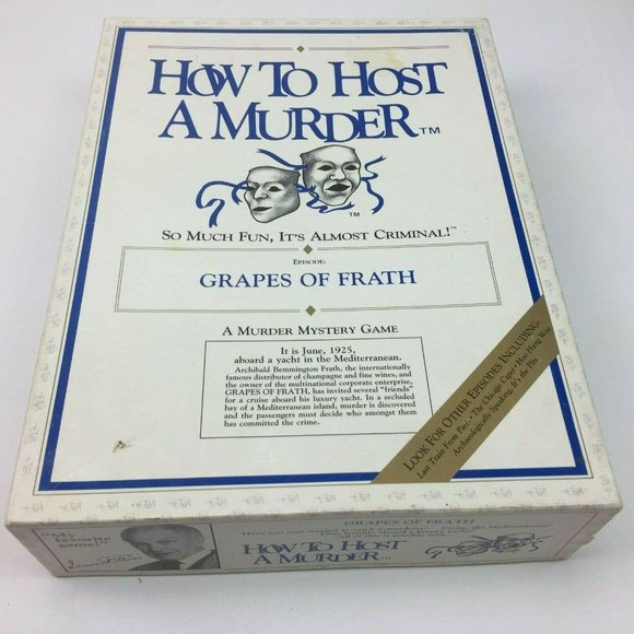 Vintage How to Host a Murder Mystery Game Grapes o